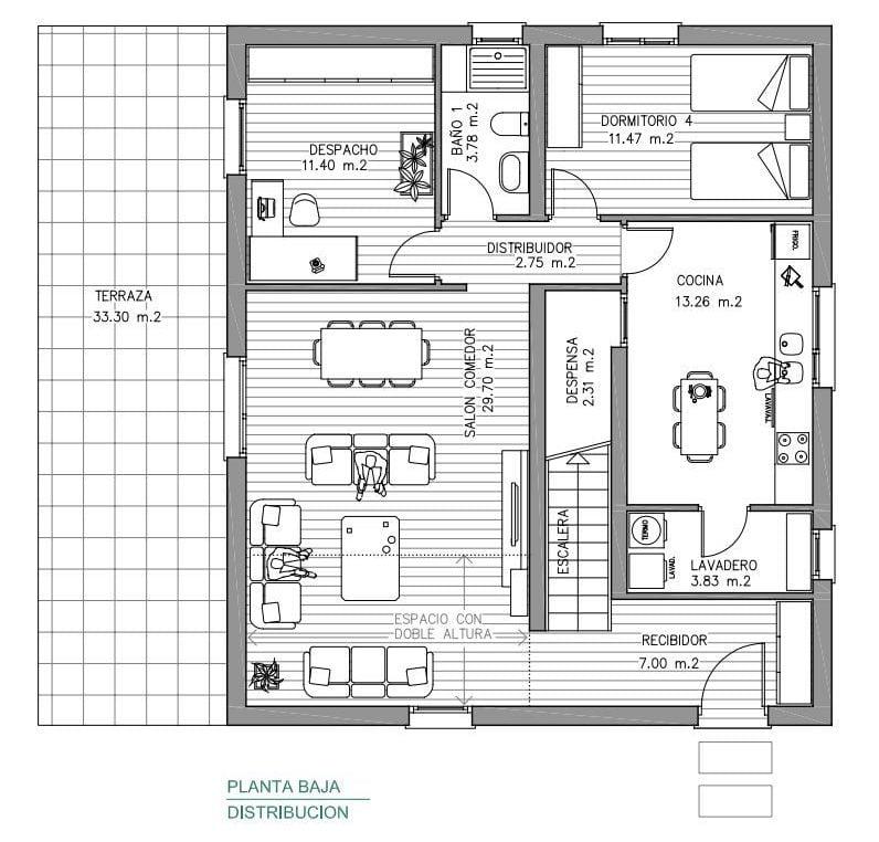 plano planta baja casa asturias